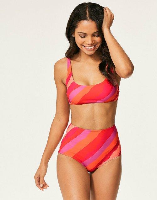 6658248cbd3 Cute swimsuits Figleaves Sao Paulo Stripe Soft Crop Bikini Top CREDIT  Figleaves ...